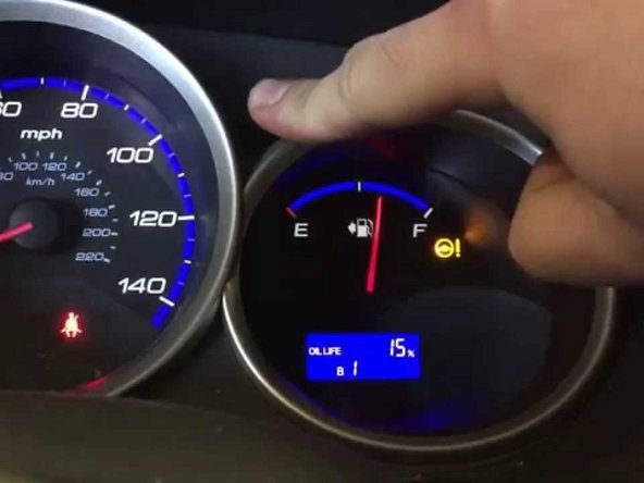 Honda Fit Reset Oil Life Indicator Replacement