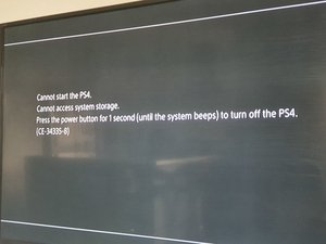 SOLVED: Wont start up - Error - memory message - PlayStation