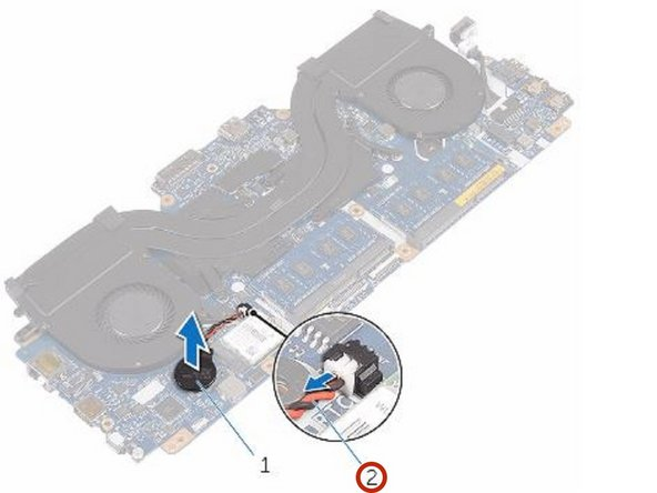 Dell Alienware 13 R2 Coin-Cell Battery Replacement