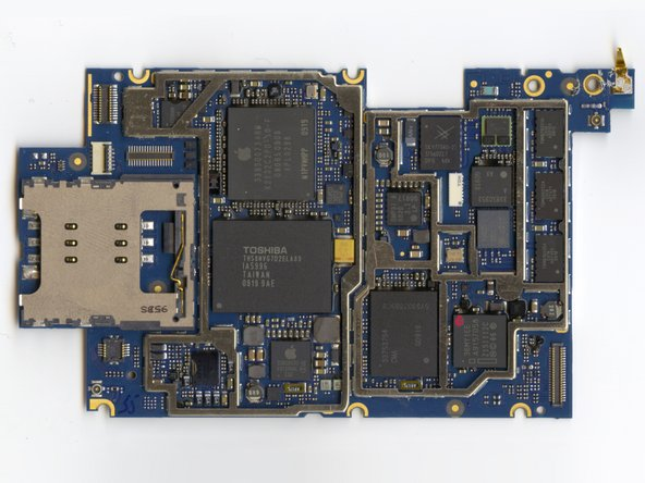 Image 1/2: The Apple-logo chip is the primary Samsung ARM processor.