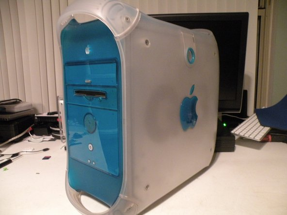 Le Power Mac G3 Bleu et Blanc.