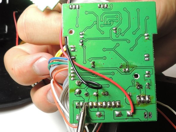 Solder each wire to corresponding input on the motherboard.