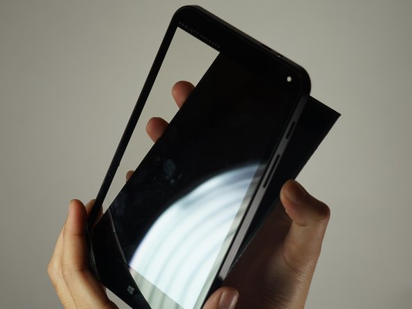 The screen should now just come right off. Be sure to catch any broken bits if the screen is damaged.