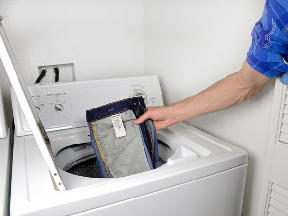 Image 1/1: You can wash other clothes with your jeans, if they are dark colored.