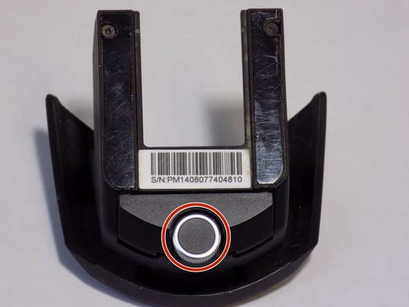 Image 1/1: Turning the knob highlighted by the red circle will change the height of the palm rest for maximum comfort.