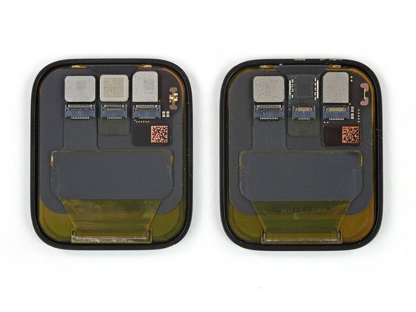 The new LTPO display on the Series 5 (left) doesn't seem to physically look all that different from last year's Series 4 display (right)—which also used LTPO technology. But Apple has been busily tinkering under the hood.