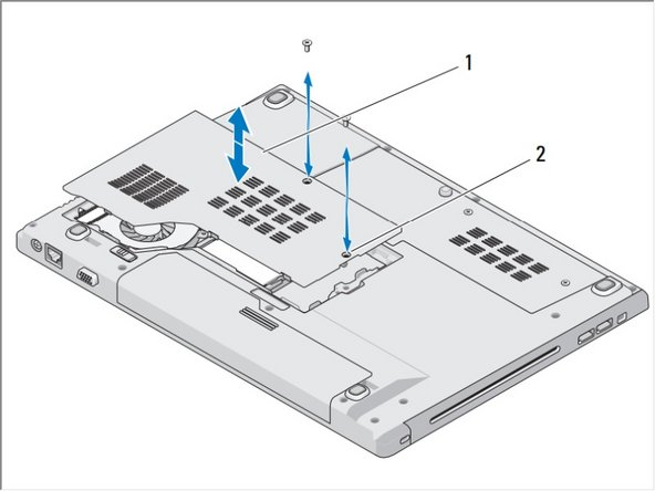 Remove the two screws that secure the memory cover, then remove the cover and set it aside.