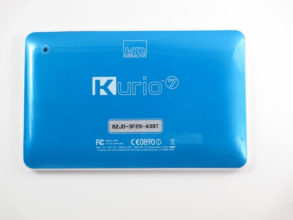 Begin by removing the rubber cover from the Kurio 7.
