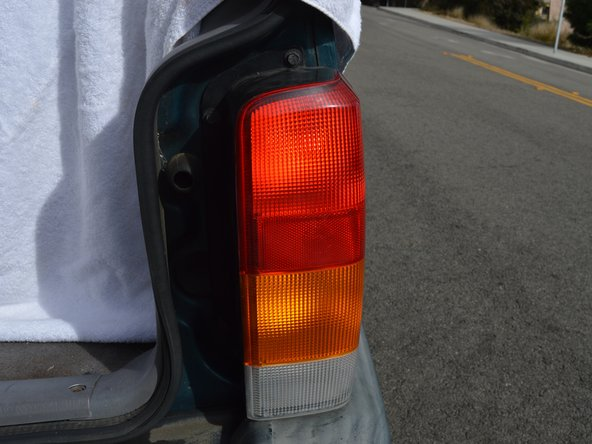 Check the brake light. Have another person step on the brake to ensure proper lighting occurs.