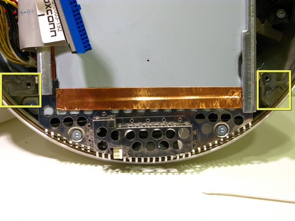 Important information for reassembling your iMac. You must clean and apply thermal paste to the mating surfaces of the CPU Heat Pipe and The Upper Housing, indicated by the yellow squares in the 2 photographs. Follow iFixit's excellent Thermal Paste Guide How to Apply Thermal Paste.