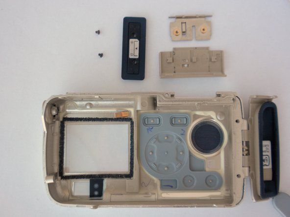 This is what the battery cover and back case look like completely disassembled.