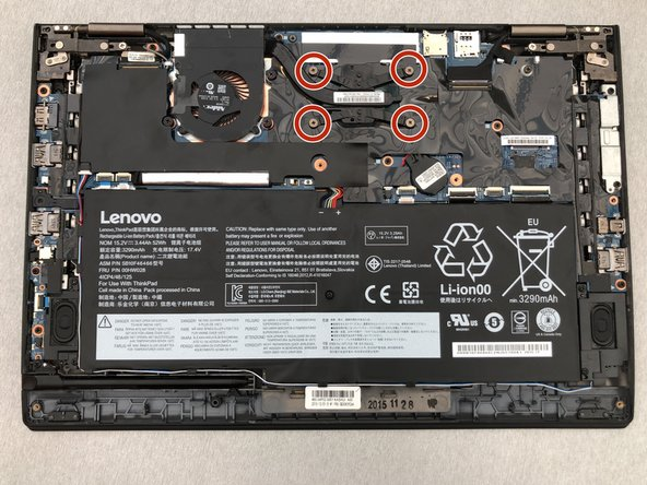 Lenovo ThinkPad X1 Yoga Cooling Fan Replacement