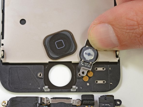 Image 1/2: Many iPhone 4 and 4S users have experienced the woes of a faulty home button, but haven't been brave enough to attempt the repair. This new design should not only increase longevity, but also make replacing the home button a lot less of a hassle.