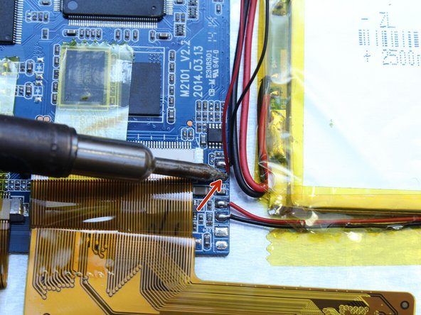 Repeat Step 4 with the black wire connecting the speaker to the motherboard.