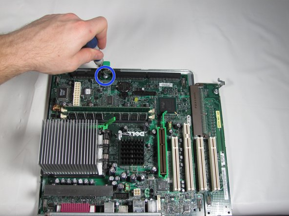 Image 2/3: If you are replacing the motherboard refer to the great [guide|4002|iFixit guide for removing the CPU].