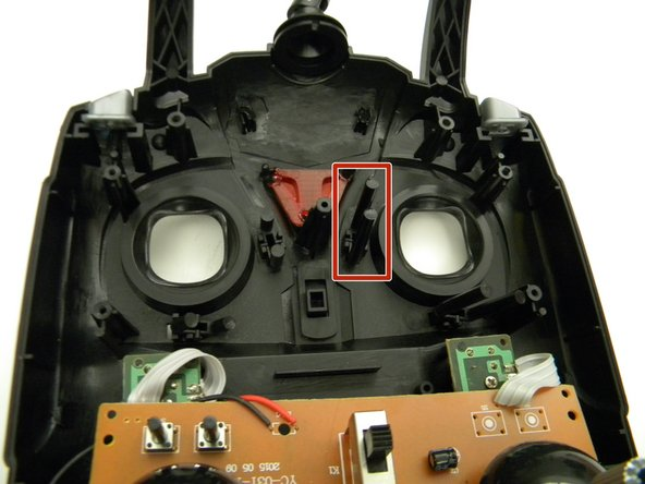 Remove the trim rocker  switch from the controller.