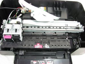 How to lubricate the HP Photosmart c4780 printhead track