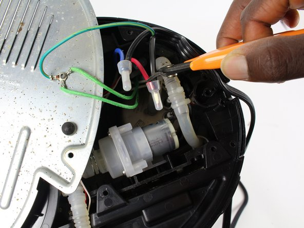 Solder the Power Cord Replacement to the same wire attachments