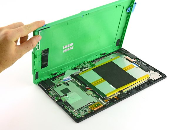Lift the back case away from the tablet.