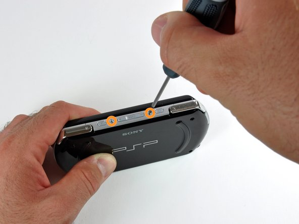 Rotate the PSP so you can see the top of the device.