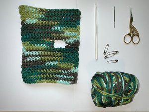 How to repair a hole in a crochet dishcloth