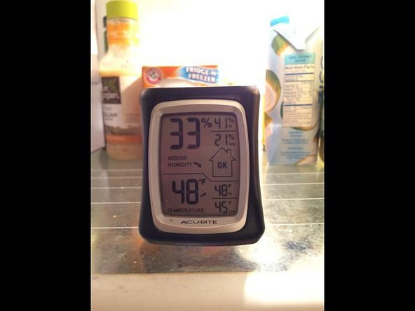 Thermometer showed the fridge to be outside of parameter for food safety.