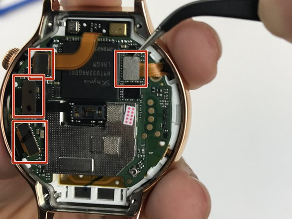 Image 1/2: The glued-down connector in the middle is harder to remove than the rest. That is perfectly fine.