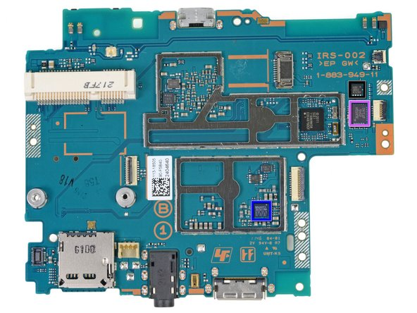 Image 2/2: Samsung [http://www.ubmtechinsights.com/teardowns/sony-playstation-vita-teardown/?pi_campaign_id=13825|KLM4G1FE3A-F001] NAND flash memory