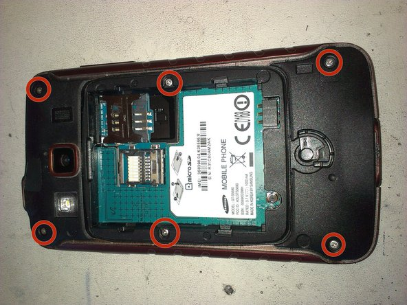 Image 2/2: Now, with a Phillpis Screwdriver, remove all the screws from the backcover.