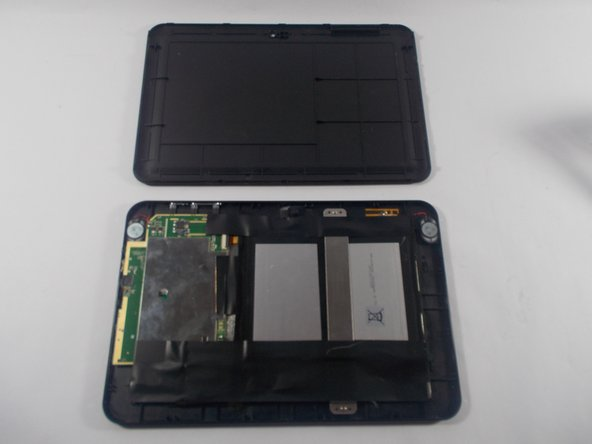 The back cover should then be able to easily be removed from the device and you should see the battery and other internal components.