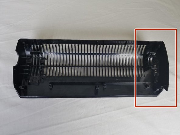 Look inside the frontal shell of the fan and locate power button.