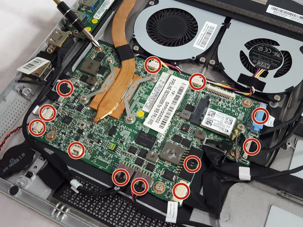 Remove each of the highlighted plugs on the motherboard and set them off the motherboard.