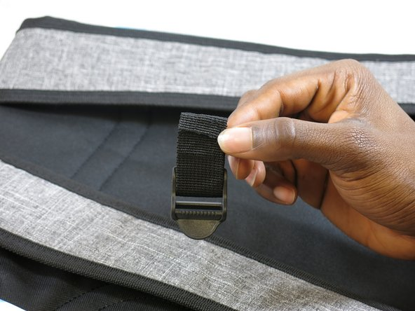 Place the material into the new buckle.