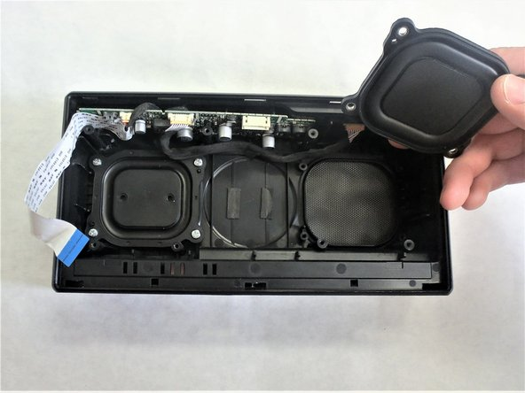 Lift the speaker reverberators away and replace them.