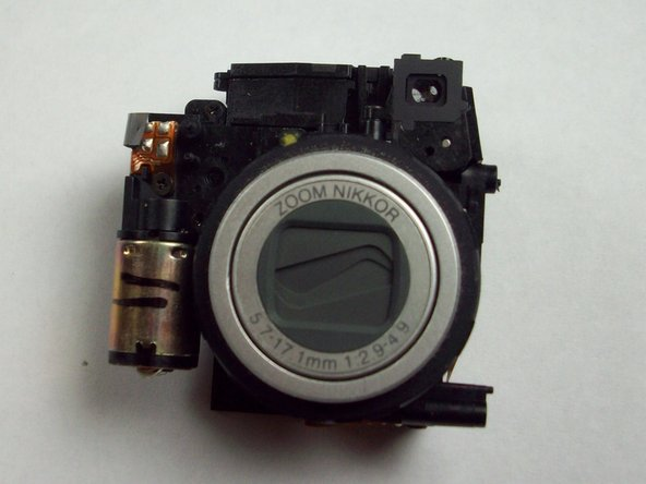 The lens assembly is now separated from all other components.