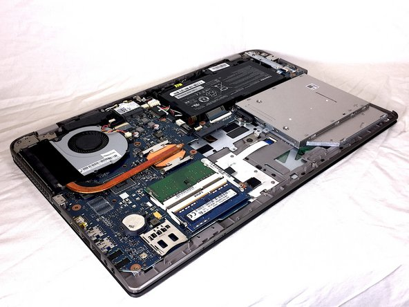 Remove the bottom cover of your laptop. For instructions on how to do this, take a look at the Toshiba Satellite P55-A5312 Back Cover Removal Guide