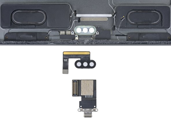 Last to come out is the USB-C port—which unlike previous iPads, is fully modular.