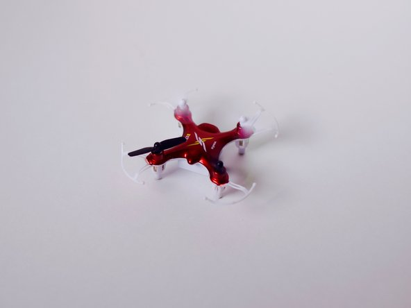 Rotate your quadcopter until the front of the quadcopter is facing you, or the side opposite of the charger hole.