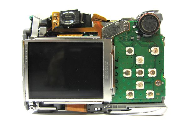 Once the ribbon connecting the back cover is removed, the back of the camera body should look like this.