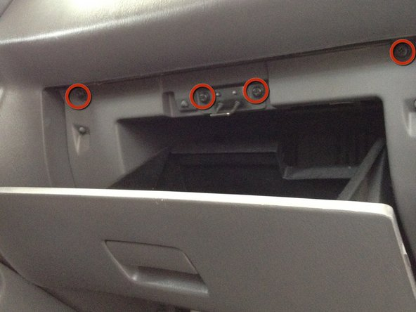Image 1/2: Replacing the Thermistor requires removal of the glove box.
