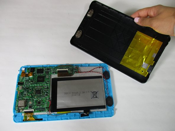 Be sure not to break any of the plastic clamps along the edges of the device when removing the back cover.