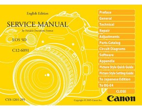 Canon 5D repair manual
