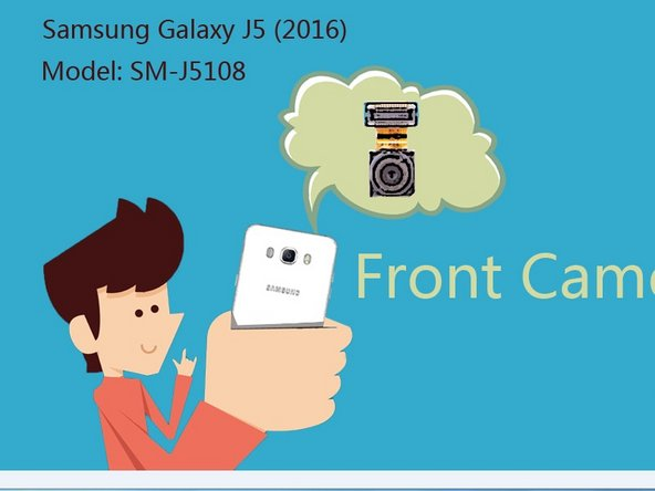 How to replace Front Camera of Samsung Galaxy J5 (2016)
