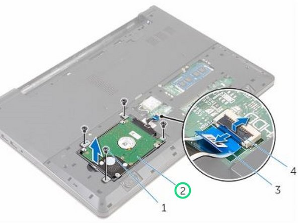 Lift the hard-drive assembly off the computer base.