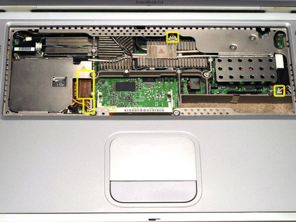 PowerBook G4 Titanium DVI Modem Filter Board Replacement