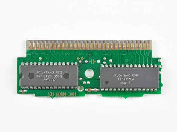 Image 2/3: This PCB from a Tennis cartridge has two ROM packages --  totaling 24 KB -- soldered to one side.