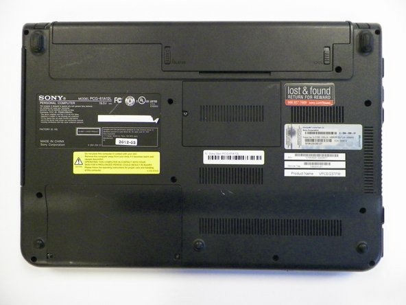 Sony Vaio PCG-61A12L Battery Replacement