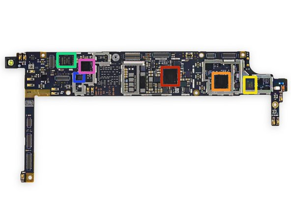 Back side of the motherboard: