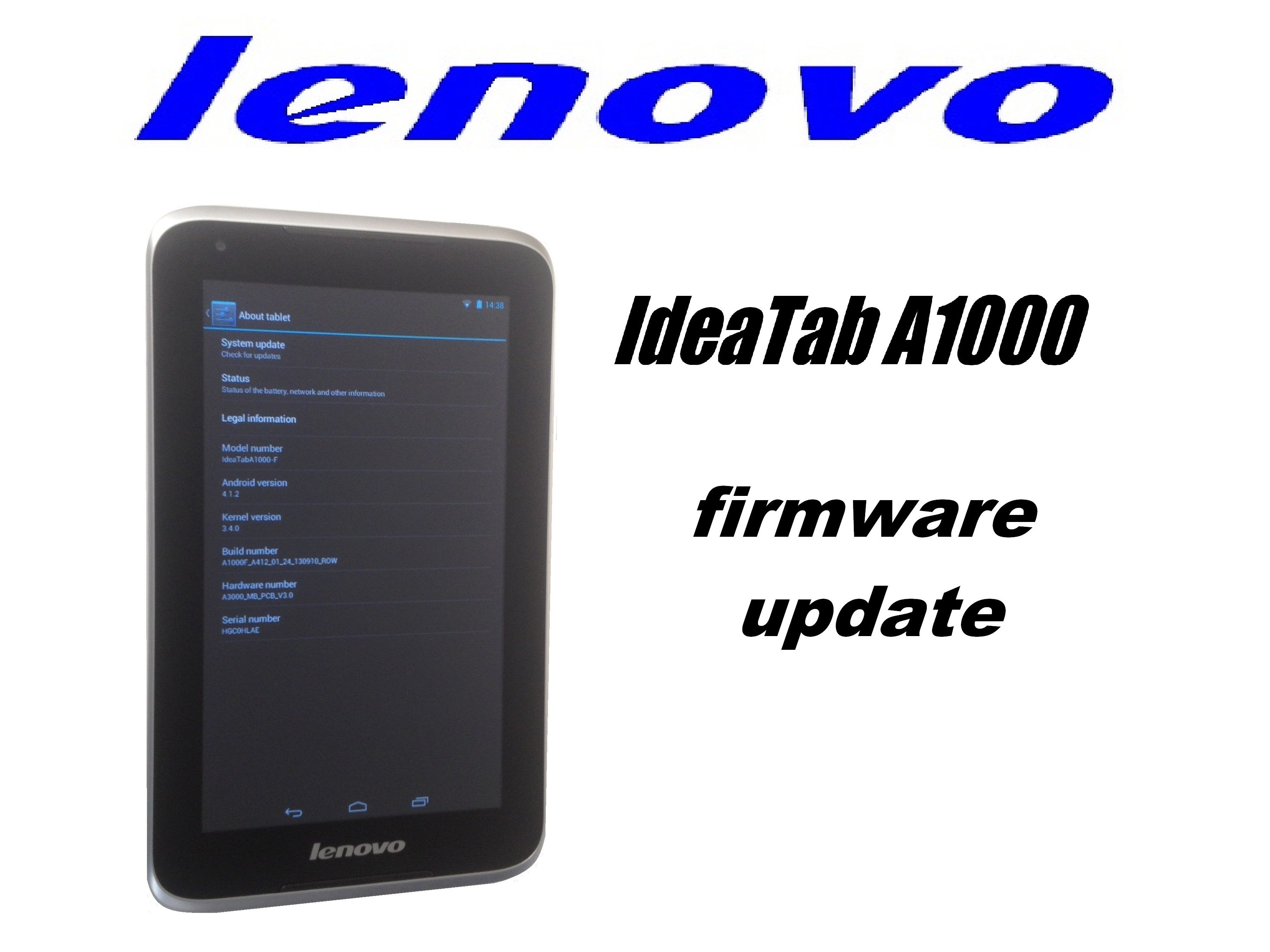 Lenovo Ideatab A1000 Firmware Update