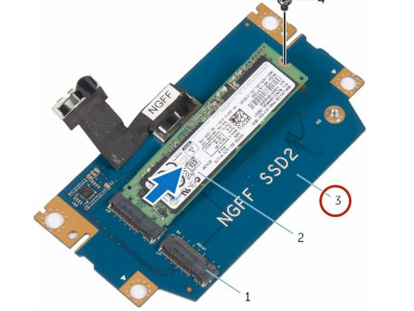 Replace the screws that secure the solid-state drive bracket to the solid-state drive assembly.